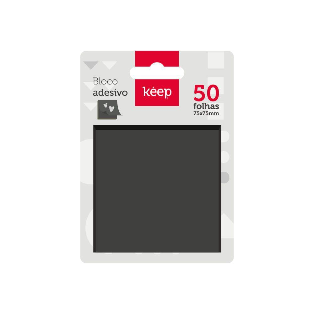 Bloco adesivo preto - Keep