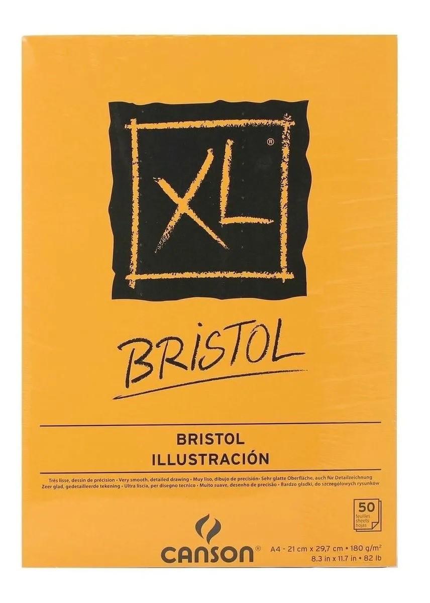 Bloco Canson Xl Bristol 180Grs C/50 Folhas A4