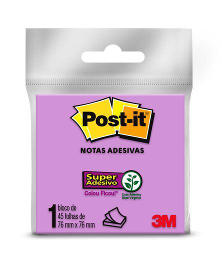 Bloco de Notas Adesivas 6 cores 45fls - Post-It