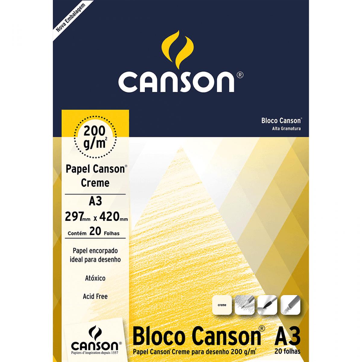 Bloco de Papel 200g/m - Canson