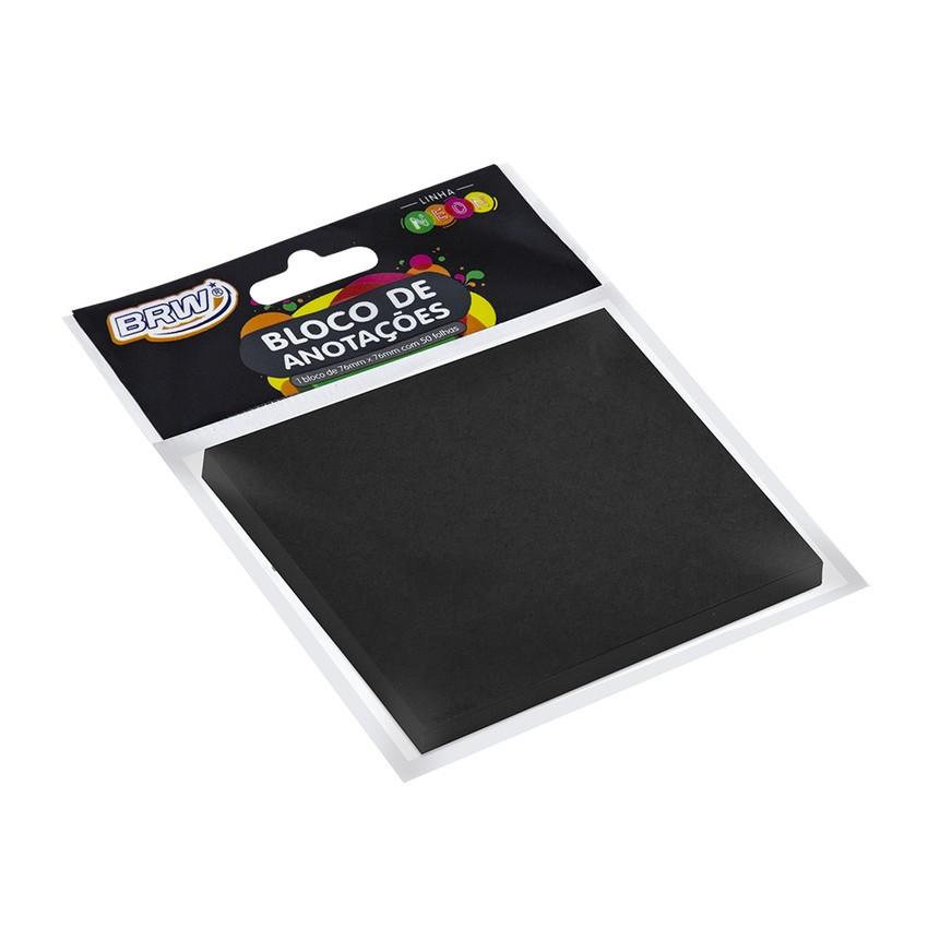 Bloco smart notes 76 x 76mm preto 50 folhas