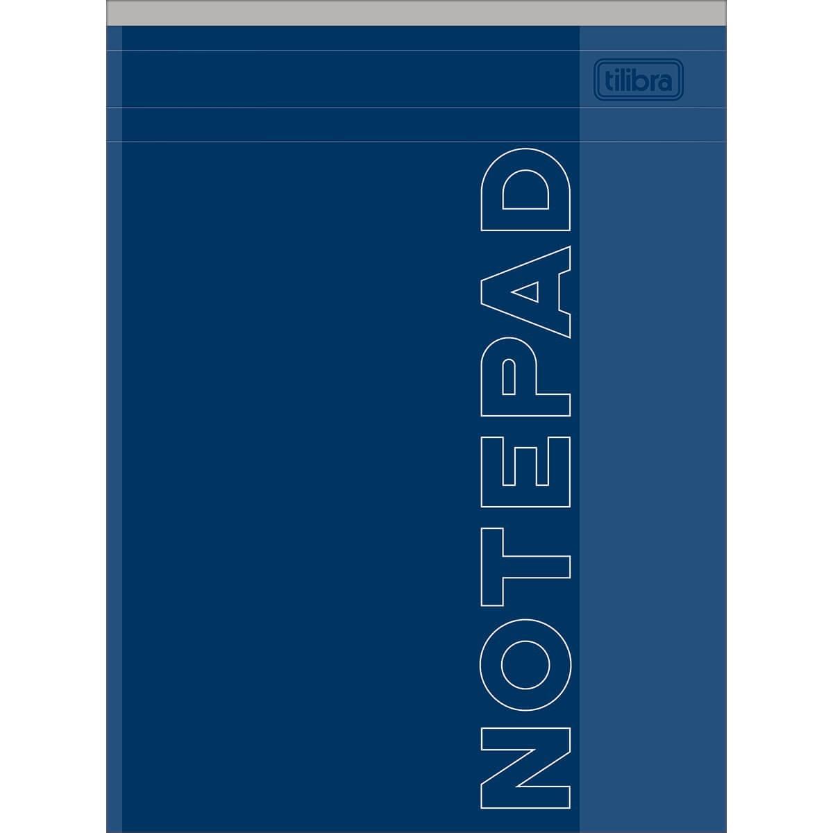 Caderneta Grampeada Icon Azul 80 Folhas