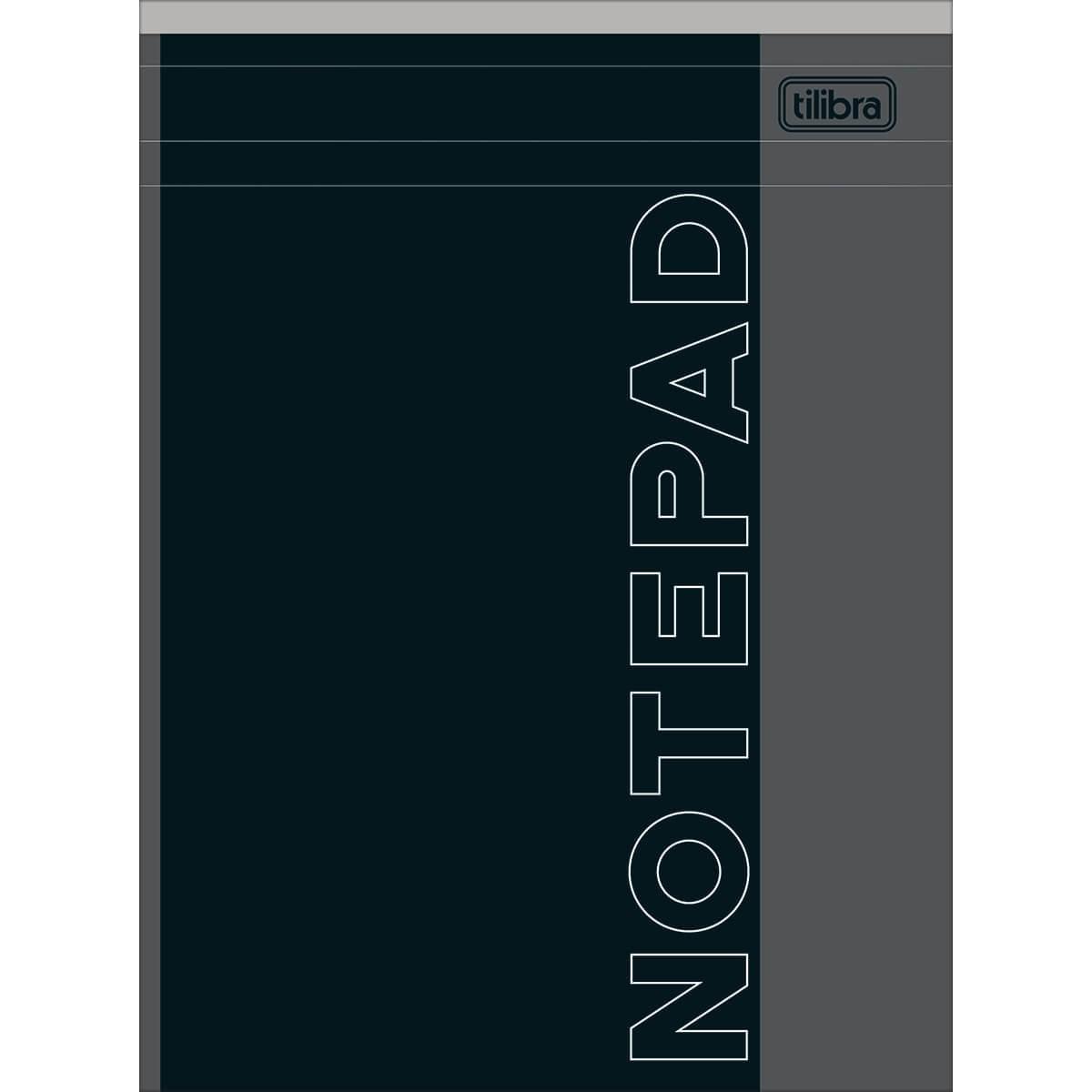 Caderneta Grampeada Icon Preto 80 Folhas
