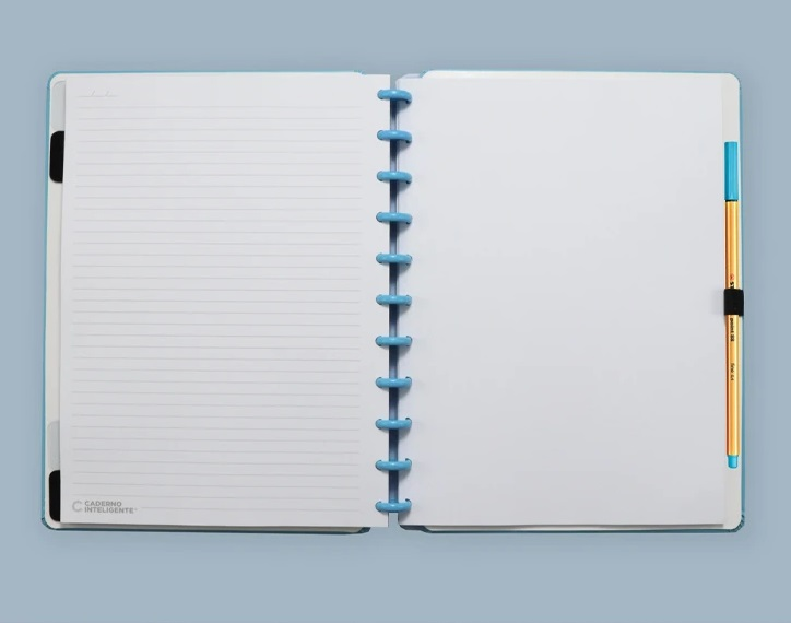 Caderno All Blue Grande  - Caderno inteligente