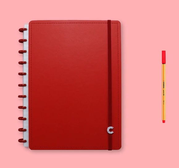 Caderno All Red Grande  - Caderno inteligente