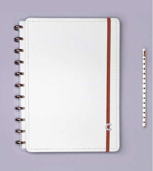 Caderno All White Universitário - Caderno Inteligente