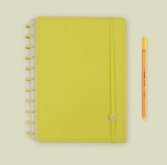 Caderno All Yellow Grande  - Caderno inteligente