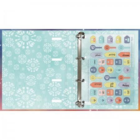 Caderno Argolado Cartonado C/ Elástico Tie Dye