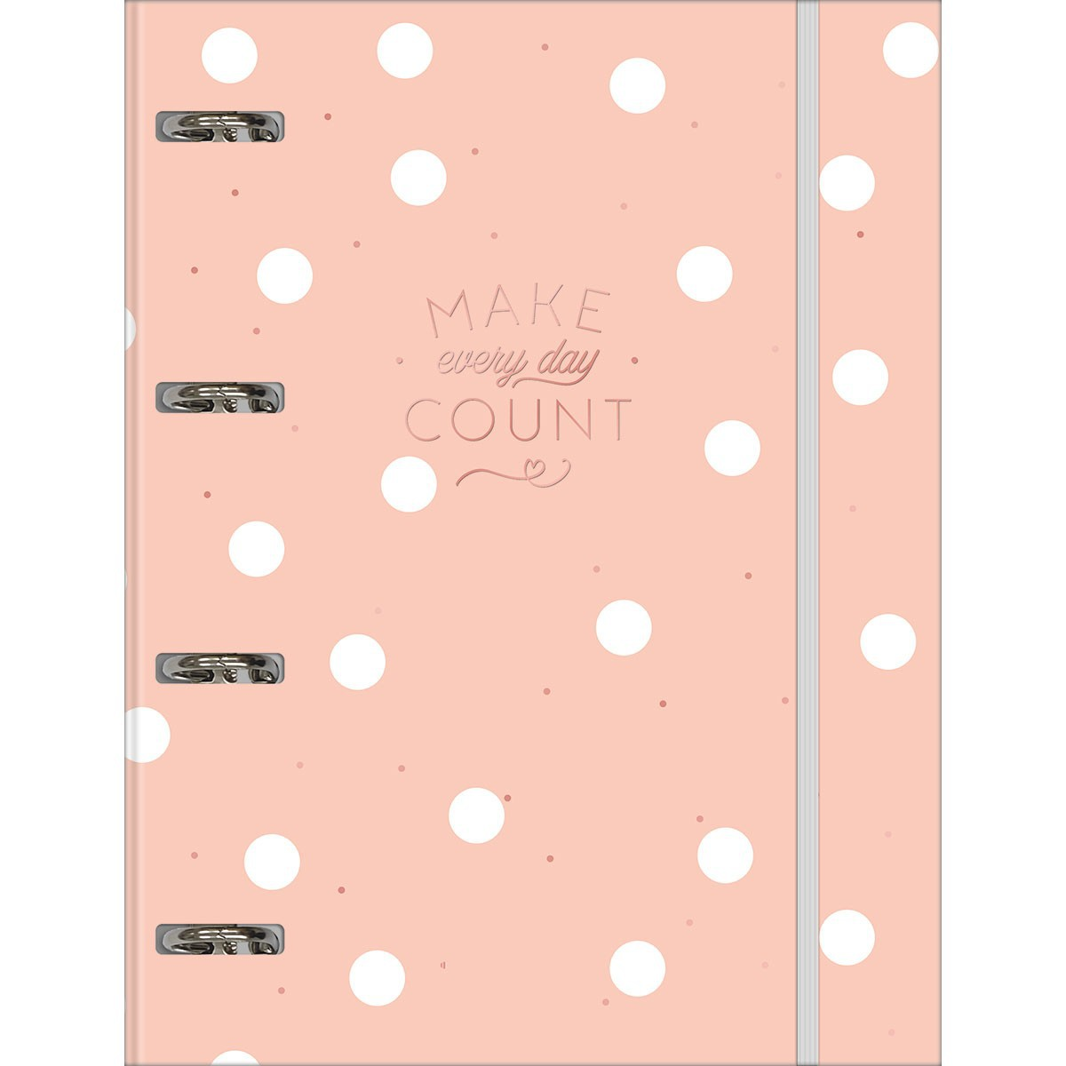 Caderno Argolado Make Every Day Count Universitário com Elástico Soho 80 Folhas