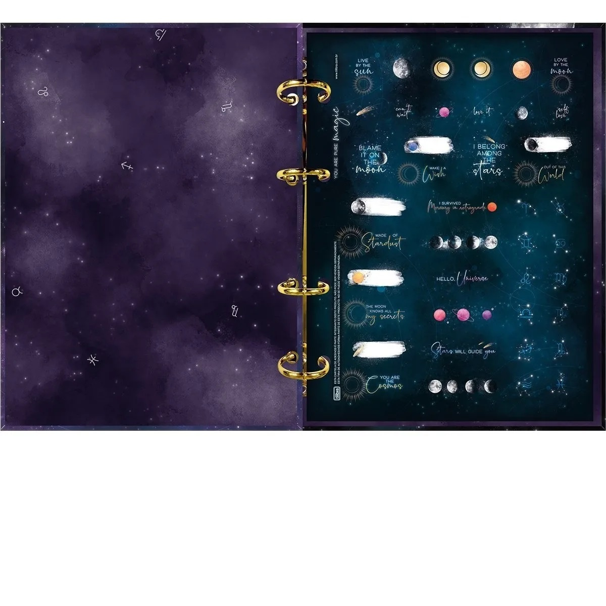 Caderno Argolado  Colegial Magic 160 Folhas