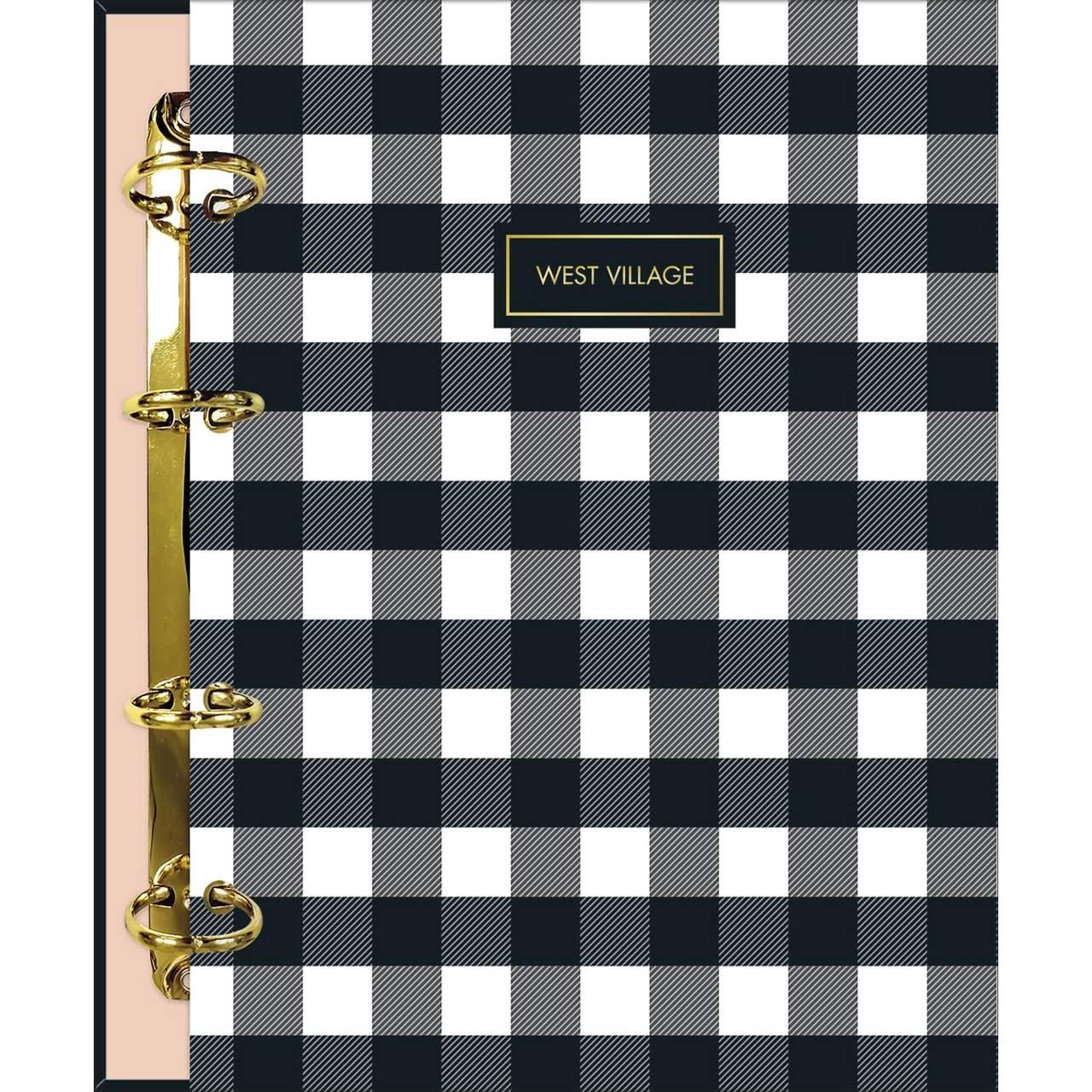Caderno Argolado quadriculado Colegial West Village 160 Folhas