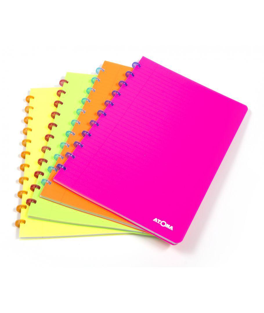 Caderno Atoma Neon A4 72 Folhas - Brabelg
