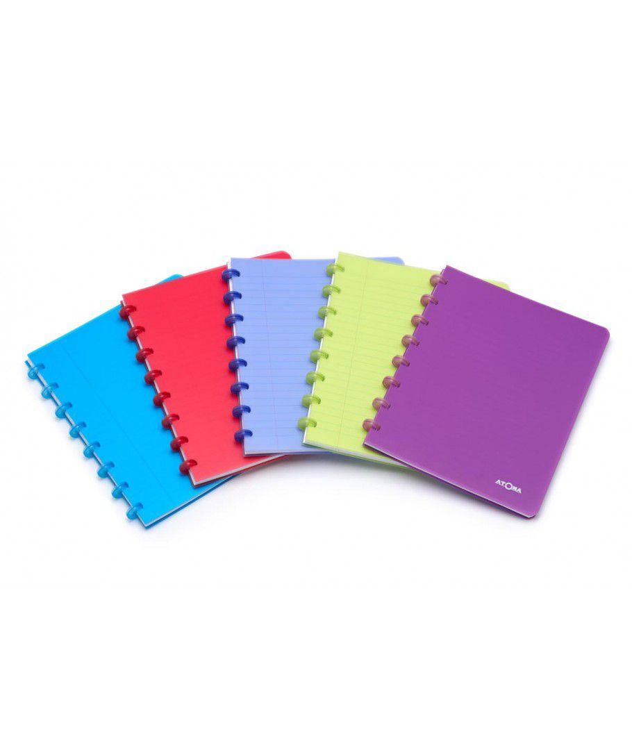 Caderno Atoma Transparente A4 72 Folhas - Brabelg