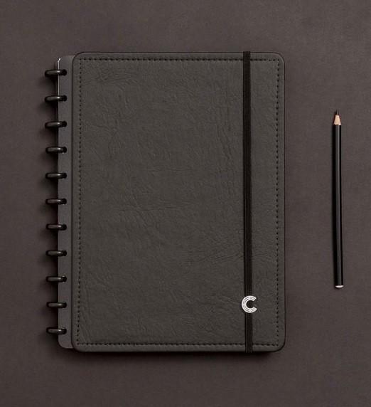 Caderno Black Ecológico Médio - Caderno Inteligente