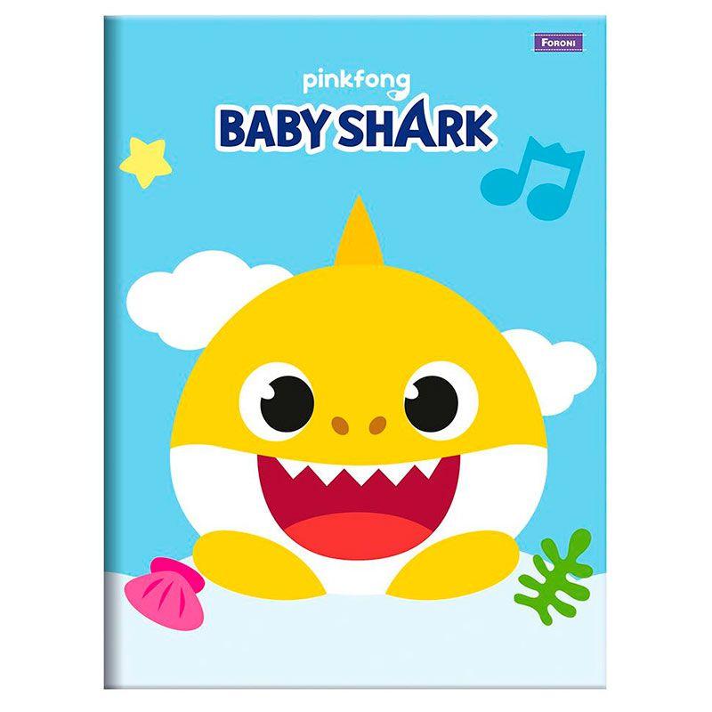 Caderno Brochura Baby Shark 96 Folhas Diversas Estampas - Foroni