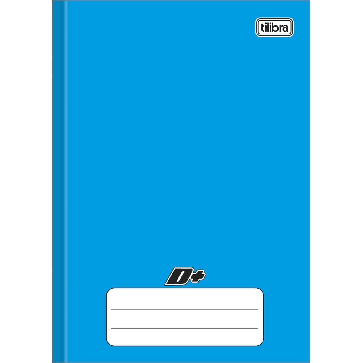 Caderno Brochura Capa Dura 1/4 D+ Azul 96 Folhas