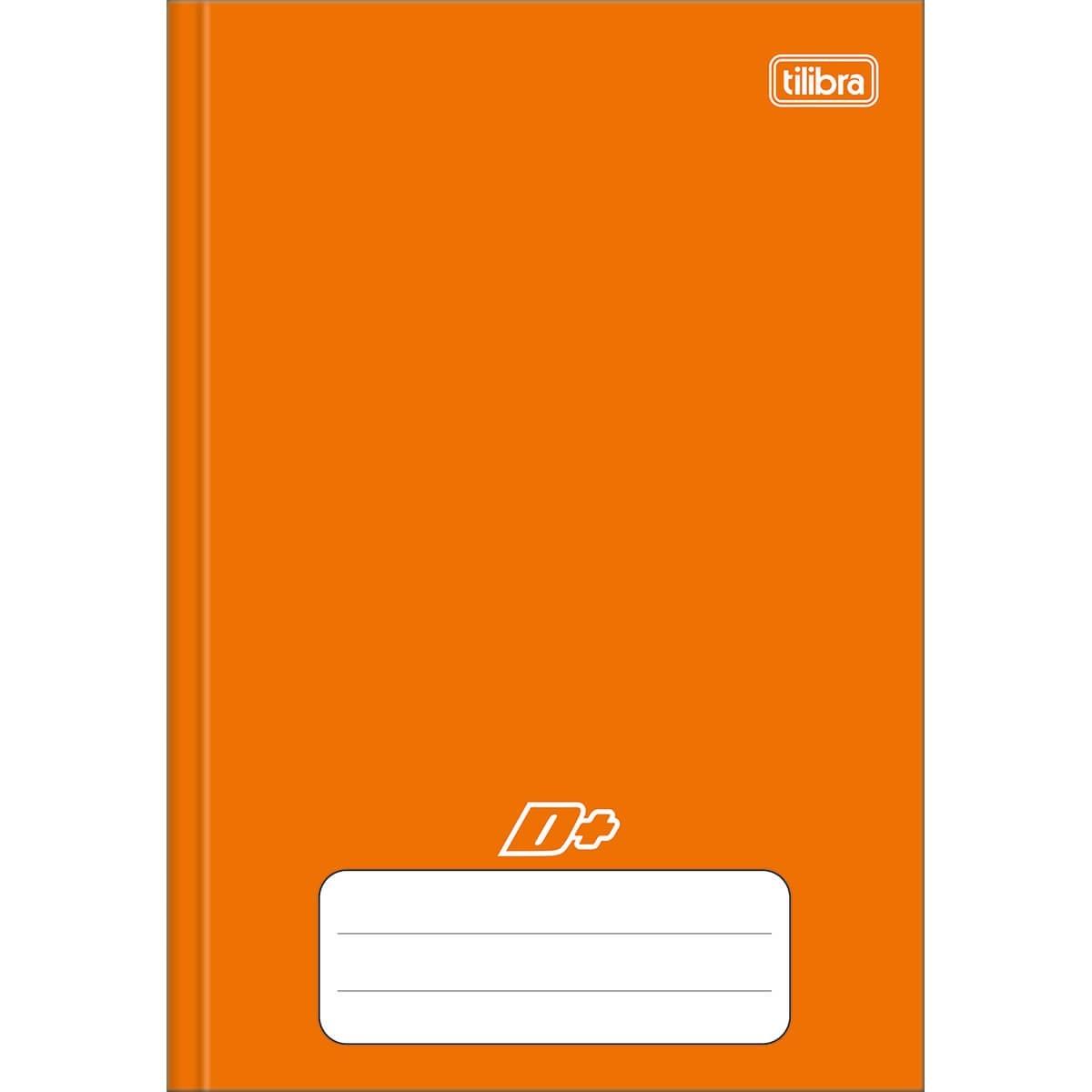 Caderno Brochura Capa Dura 1/4 D+ Laranja 96 Folhas