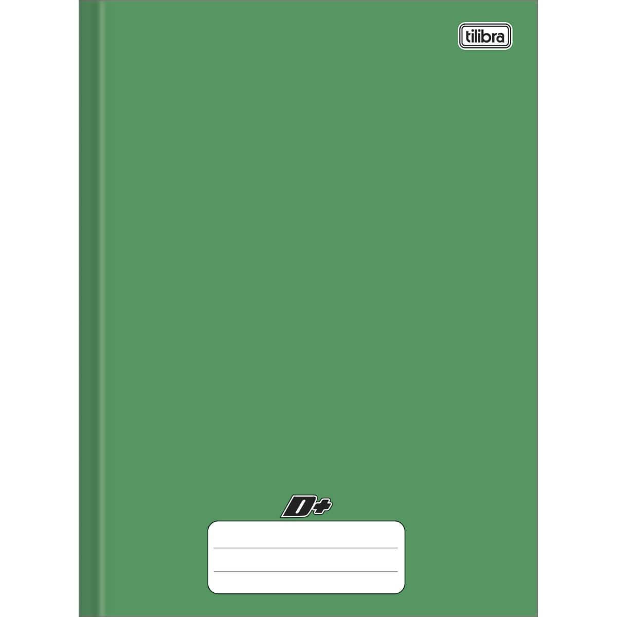 Caderno Brochura Capa Dura Universitário D+ Verde 96 Folhas