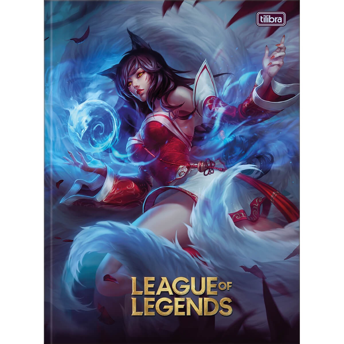 Caderno Brochura Capa Dura Universitário League of Legends Ahri 80 Folhas