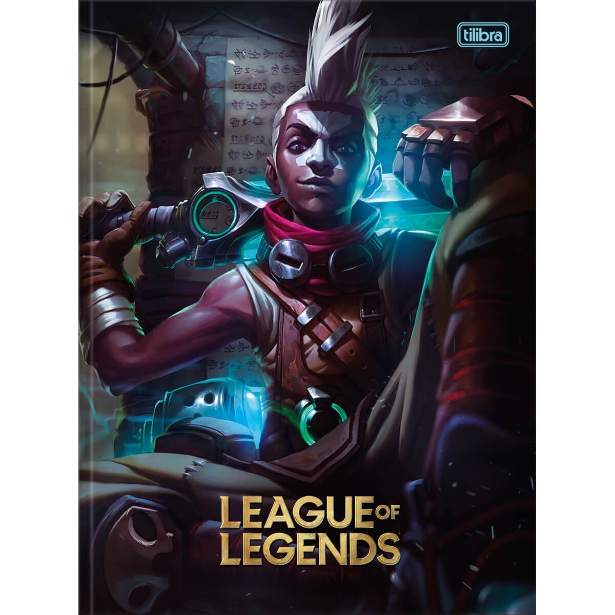 Caderno Brochura Capa Dura Universitário League of Legends Ekko 80 Folhas