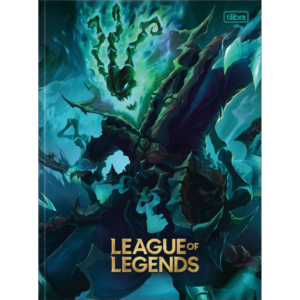 Caderno Brochura Capa Dura Universitário League of Legends Tresh 80 Folhas