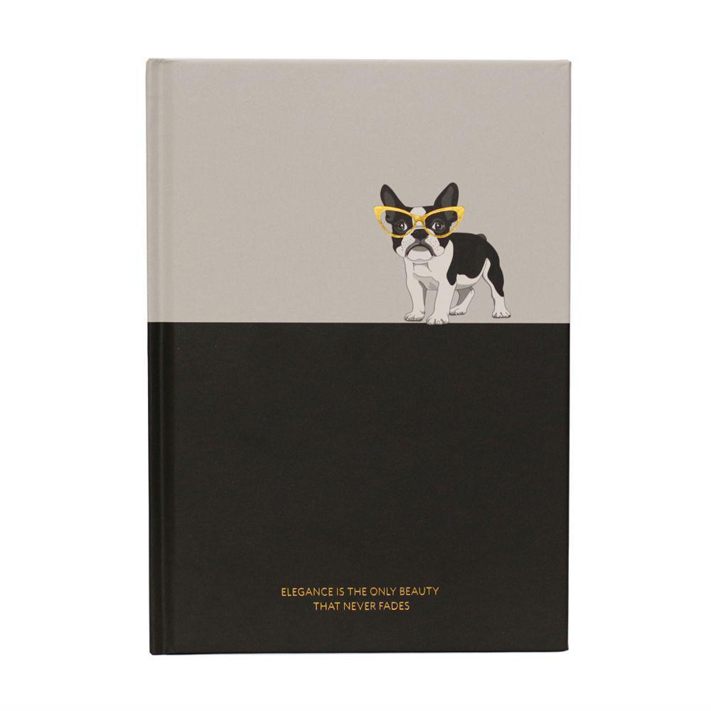 Caderno Capa Dura Pautado Bee Unique Modelo Love You Preto e Branco 80 g A5 80 Folhas