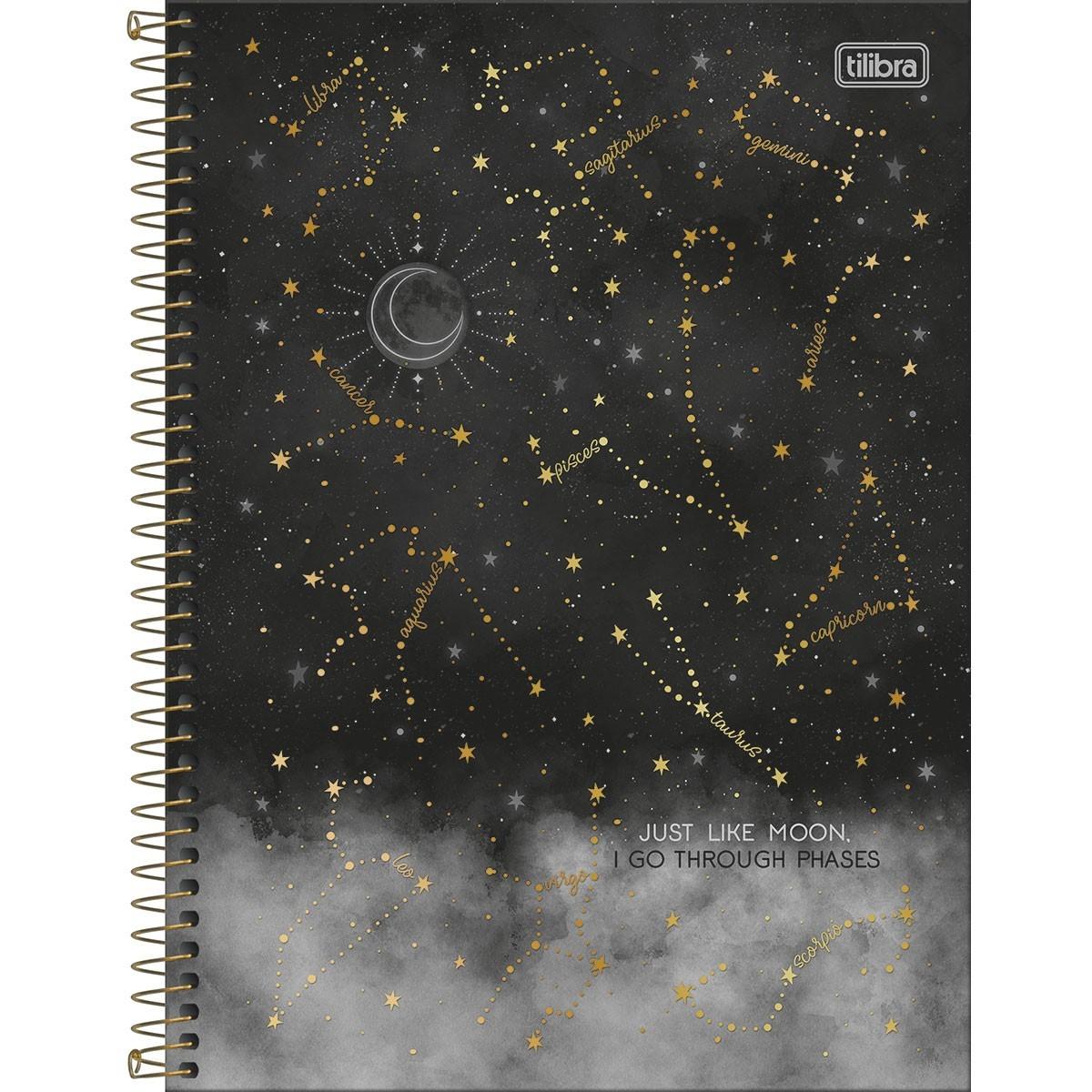 Caderno Espiral Capa Dura  1 Matéria Magic horóscopo 80 Folhas