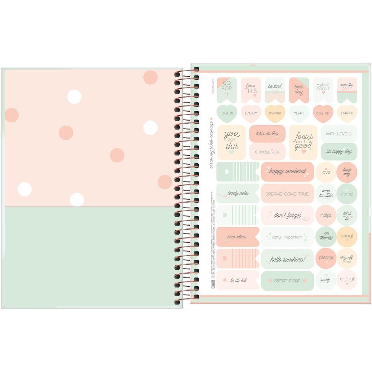 Caderno Espiral Capa Dura Colegial Full Of Bright Ideas Soho 10 Matérias