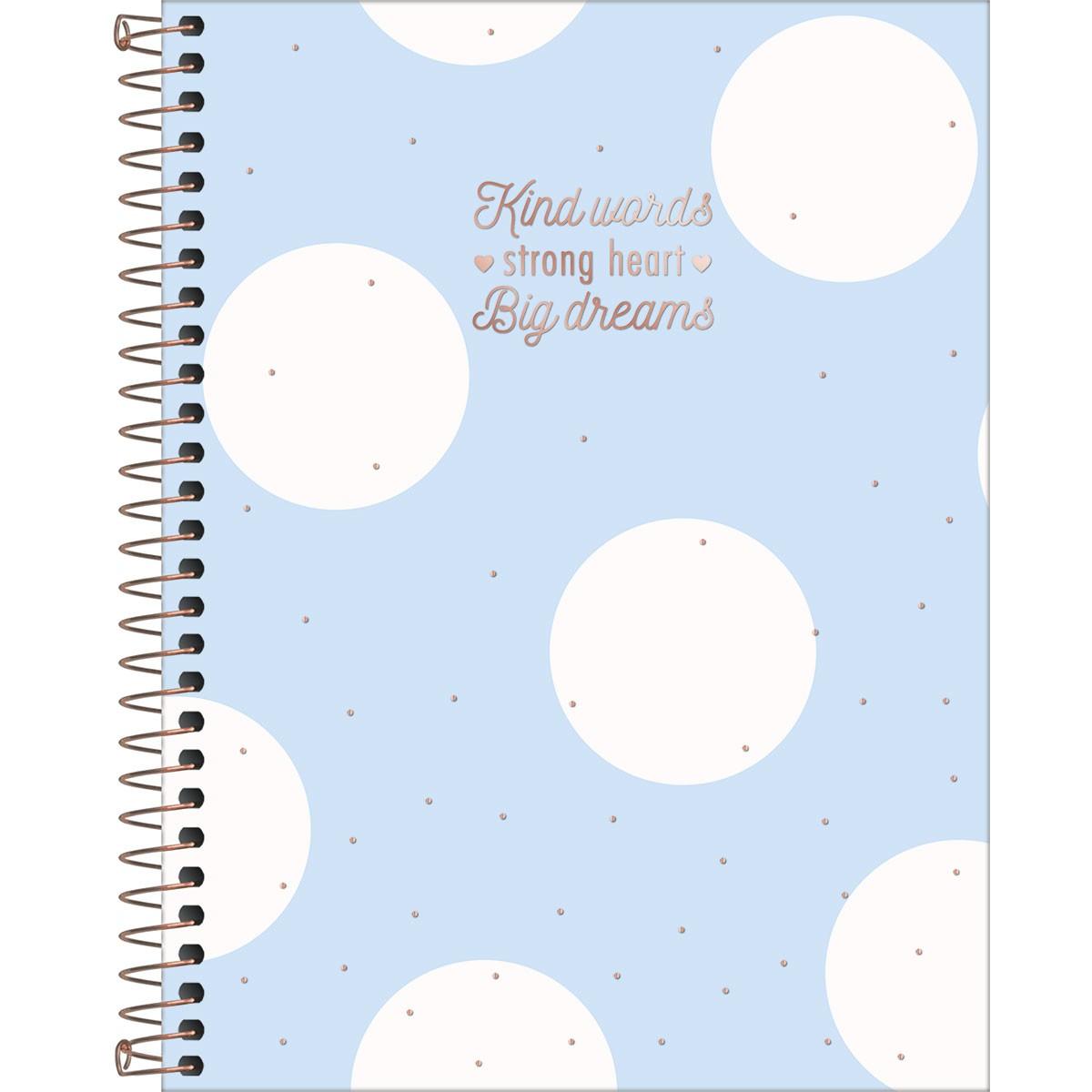 Caderno Espiral Capa Dura Colegial 1 Matéria Soho 80 Folhas