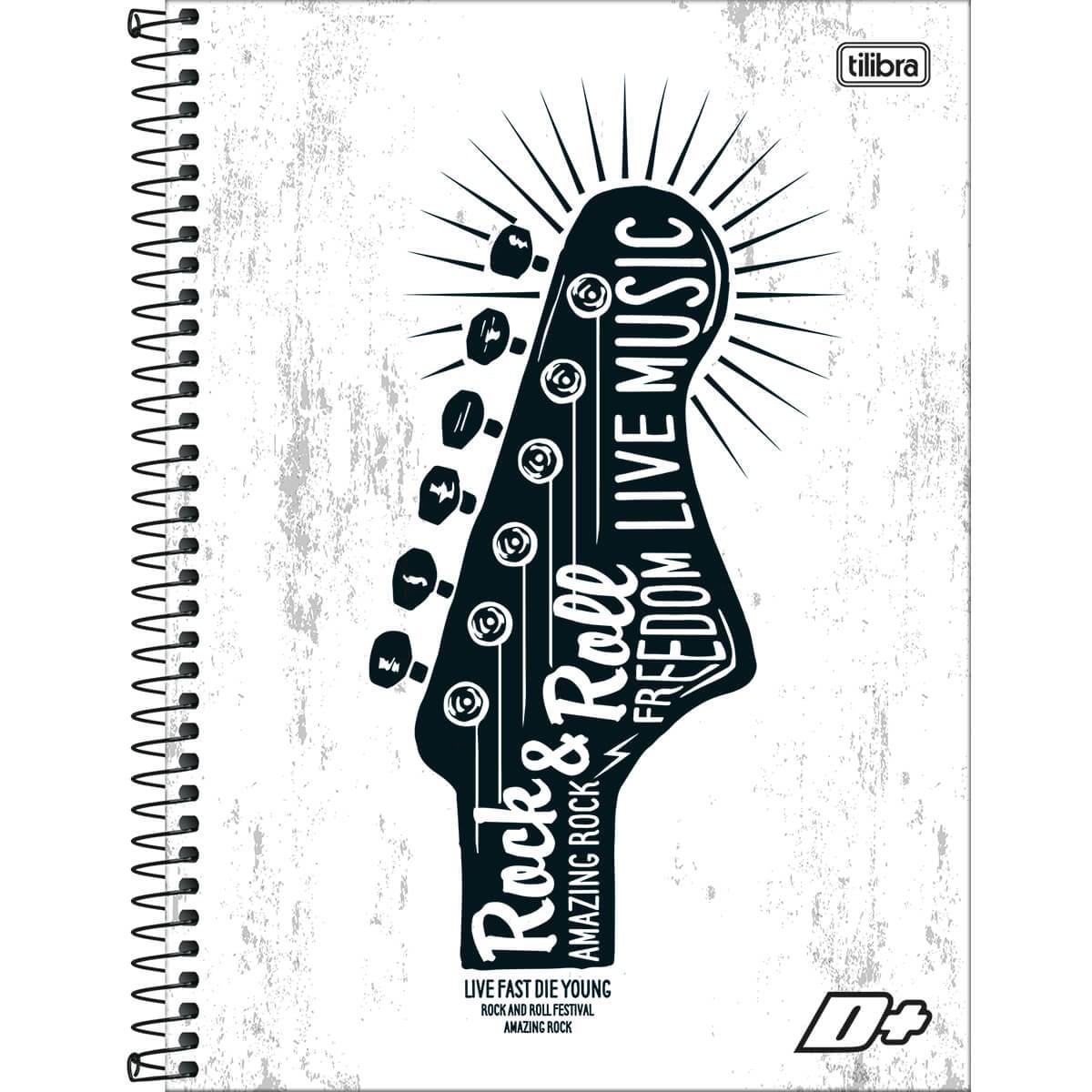 Caderno Espiral Capa Dura Universitário 10 Matérias D+ Masculino 200 Folhas - Sortido