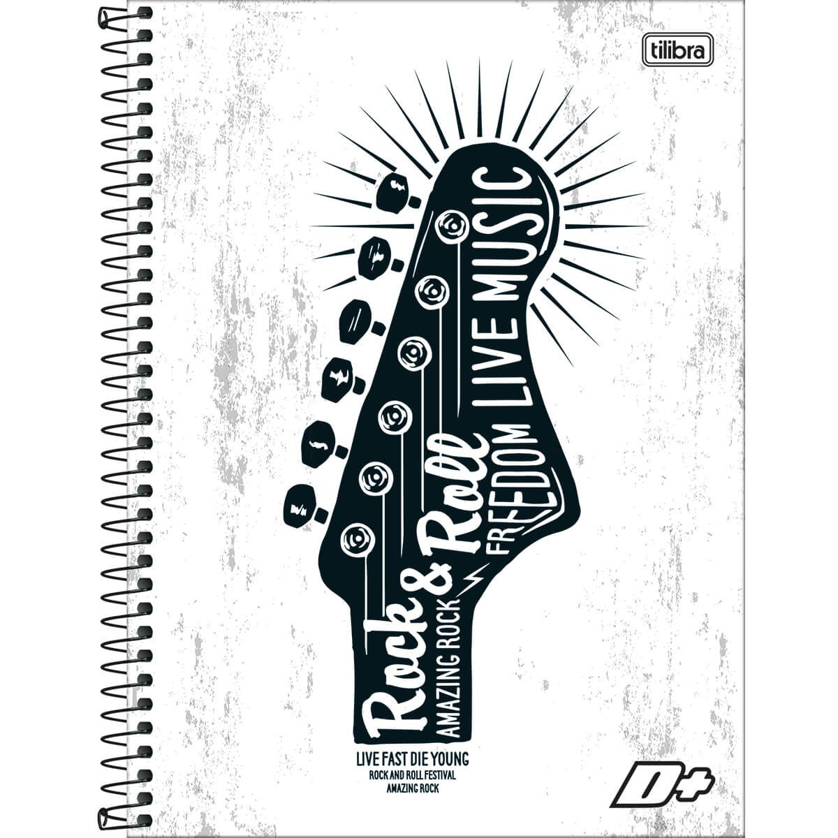 Caderno Espiral Capa Dura Universitário 10 Matérias D+ Masculino 200 Folhas (Pacote com 4 unidades) - Sortido