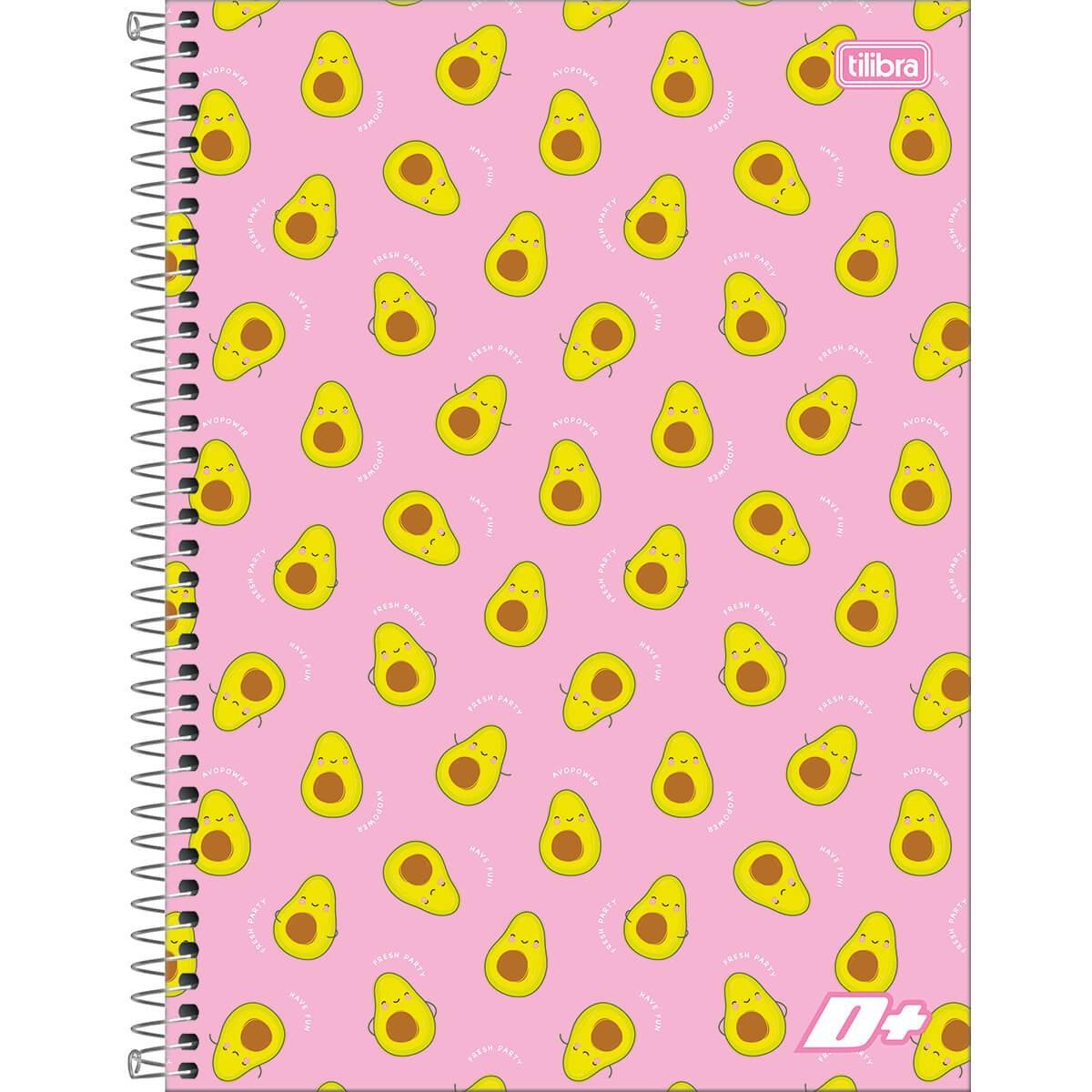 Caderno Espiral Capa Dura Universitário 10 Matérias D+ Feminino 200 Folhas (Pacote 4 unidades) - Sortido