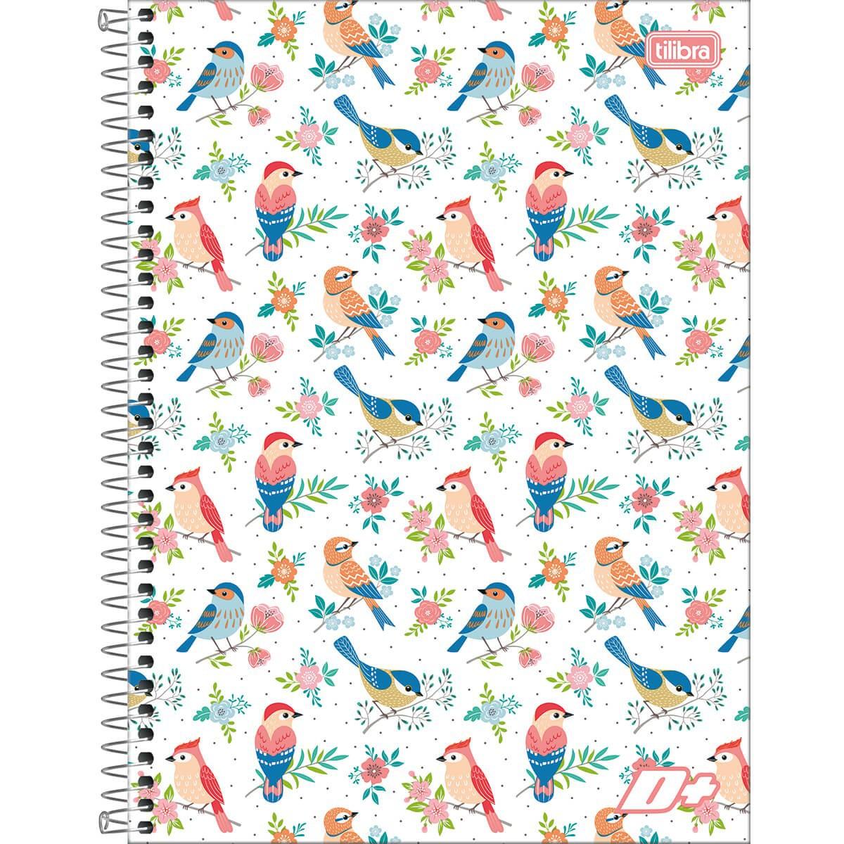 Caderno Espiral Capa Dura Universitário 10 Matérias D+ Feminino 200 Folhas - Sortido