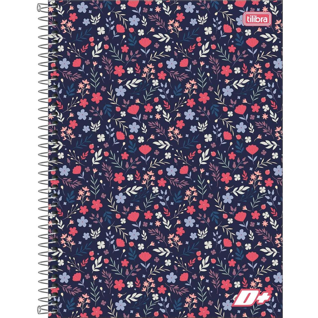 Caderno Espiral Capa Dura Universitário 1 Matérias D+ Feminino 96 Folhas (Pacote com 4 unidades) - Sortido