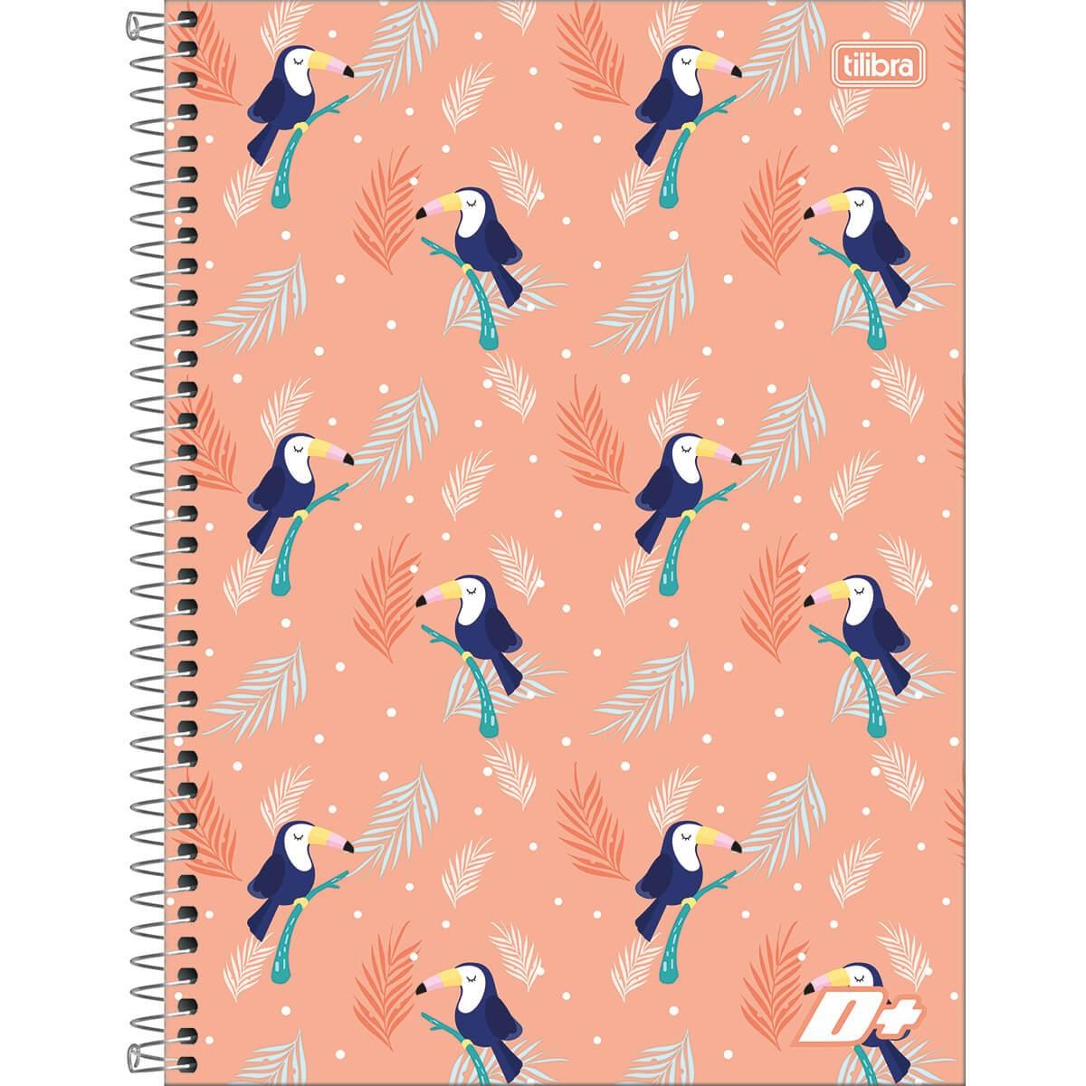 Caderno Espiral Capa Dura Universitário 1 Matérias D+ Feminino 96 Folhas - Sortido