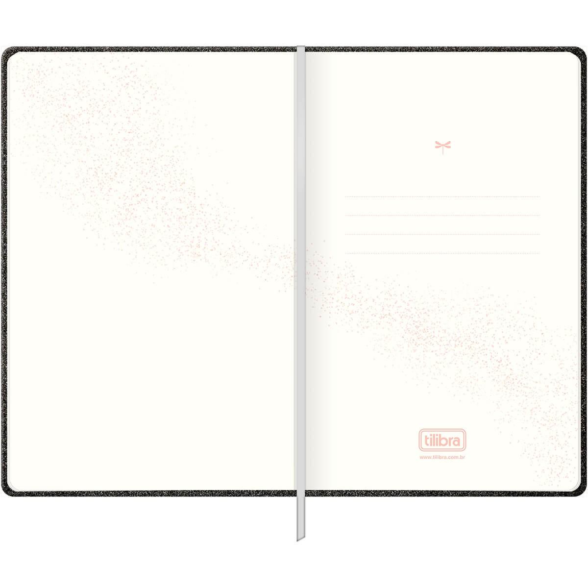 Caderno Executivo Preto sem Pauta Costurado Capa Dura Cambridge Shine 90 Gramas 80 Folhas