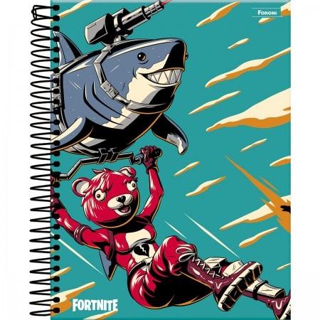 Caderno Fortnite Tubarão 160fls - Foroni
