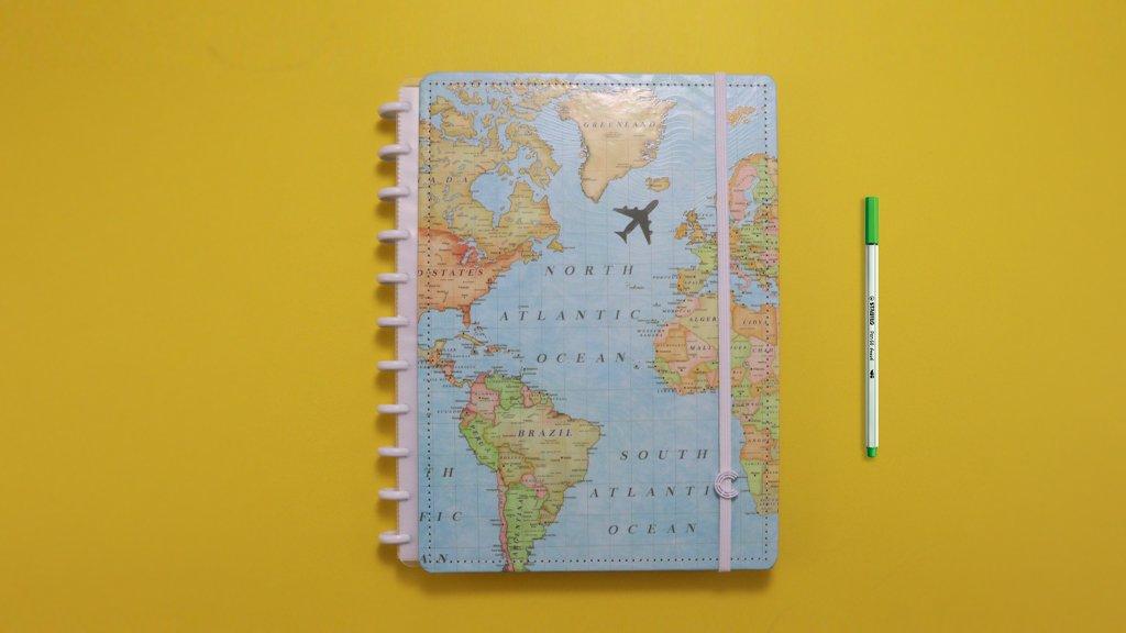 Caderno Inteligente Mapa Mundi Grande