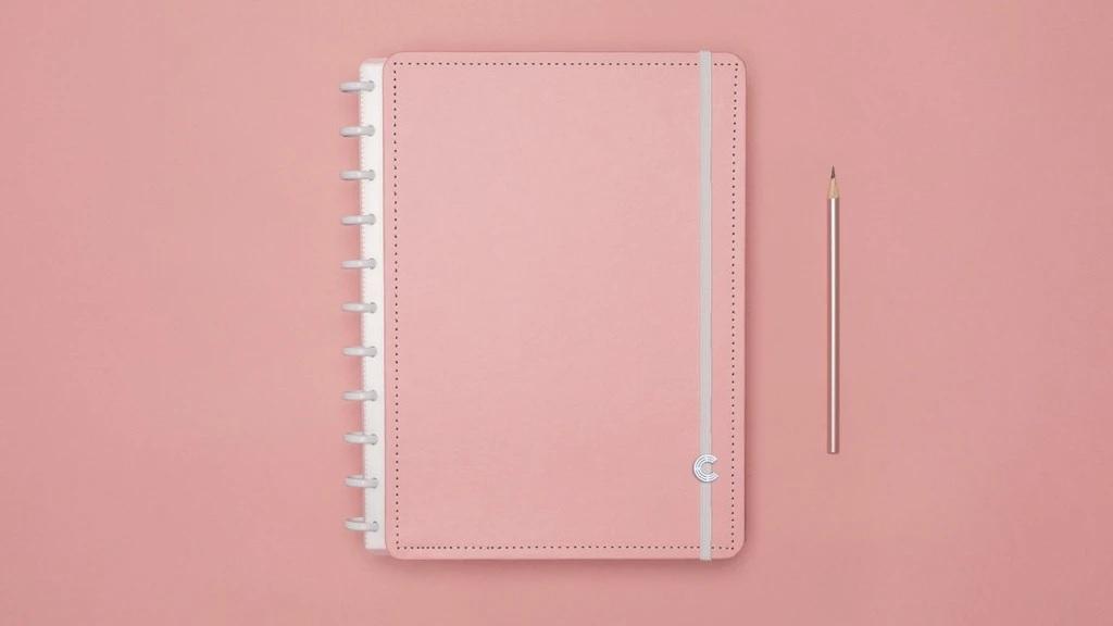 Caderno Rose Pastel Grande - Caderno Inteligente
