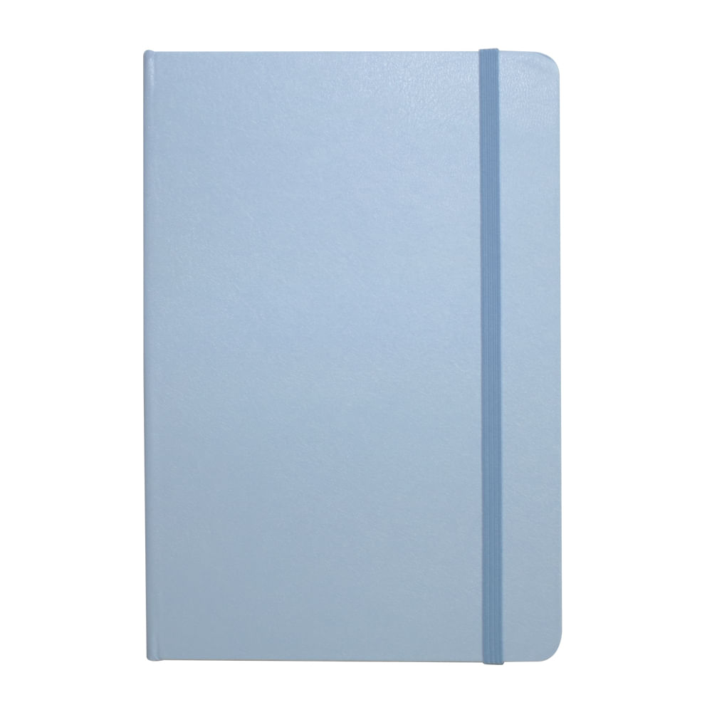Caderno Sketchbook Quadriculado Bee Unique Azul Pastel 70g A5 160 Páginas