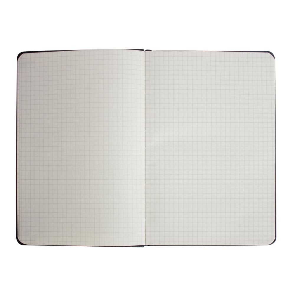 Caderno Sketchbook Quadriculado Bee Unique Azul Pastel 70g A5 160 Páginas