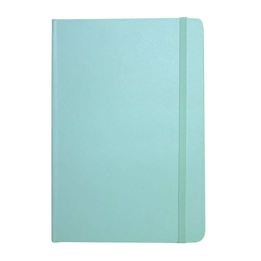 Caderno Sketchbook Quadriculado Bee Unique  Verde Pastel 70g A5 160 Páginas