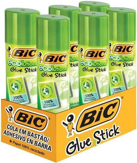 Caixa cola bastão ecolutions 21g 6 unidades - BIC