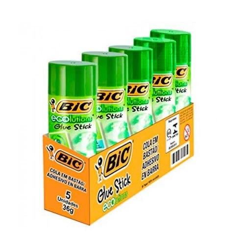 Caixa cola bastão ecolutions 36g 5 unidades - BIC
