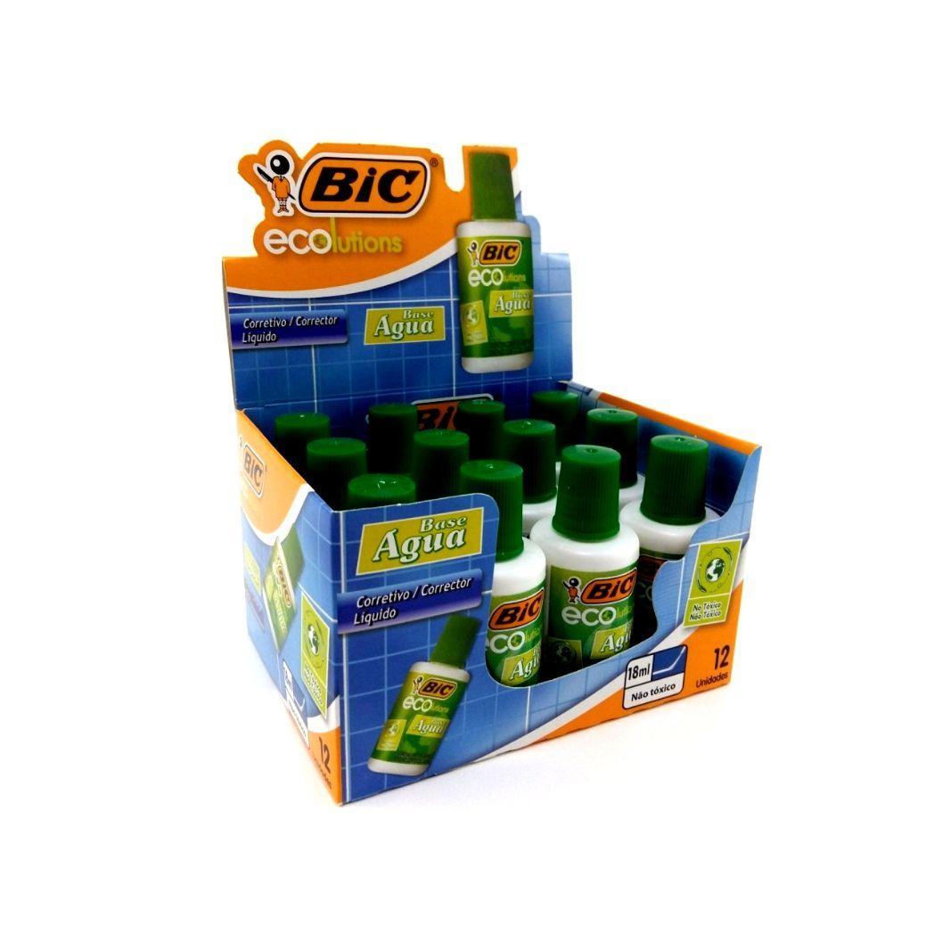 Caixa corretivo ecolutions com 12 unidades - BIC