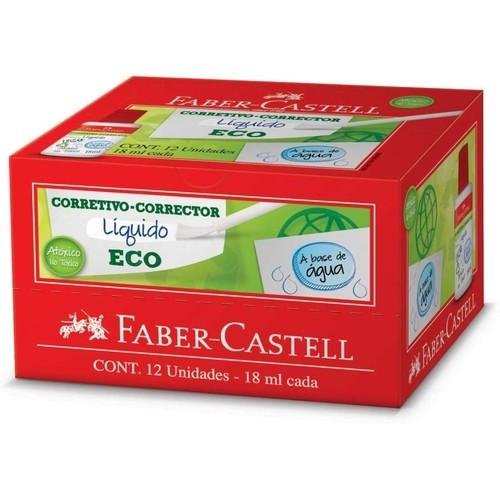 Caixa corretivo liquido eco com 12 unidades - Faber-Castell