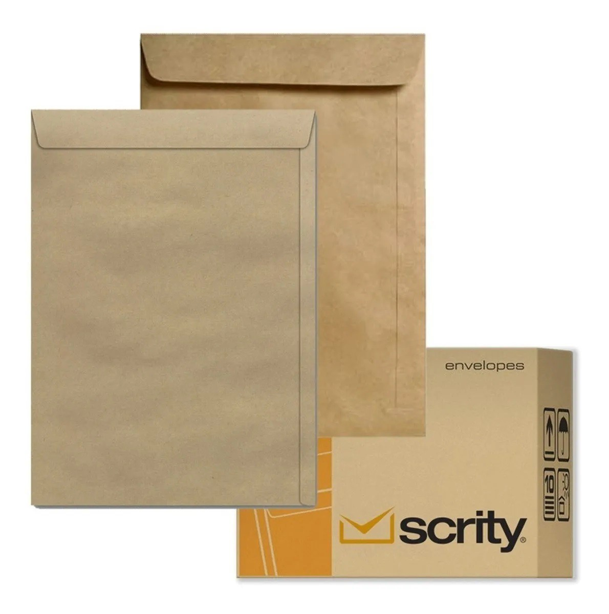 Caixa Envelope A4 Kraft Natural 229x324 250 unidades  - Scrity