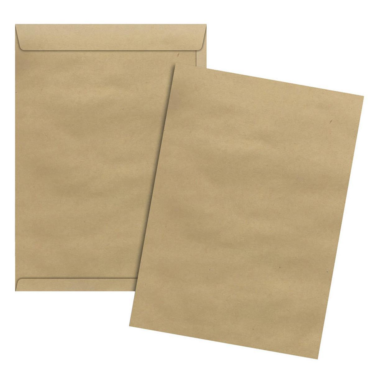 Caixa Envelope A4 Kraft Natural 229x324 100 unidades - Scrity