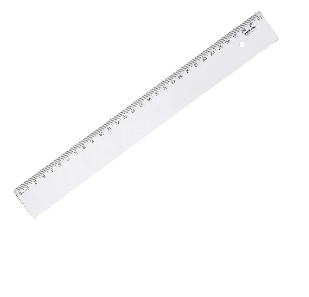 Caixa régua 30cm Cristal c/100 - Waleu