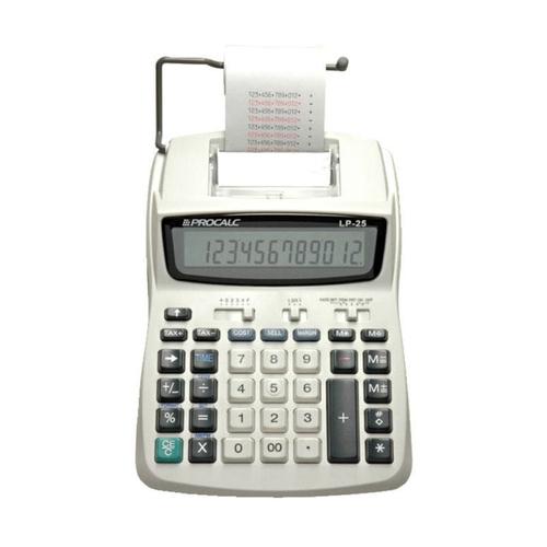 Calculadora De Impressao Procalc Lp25 12 Dígitos Bivolt